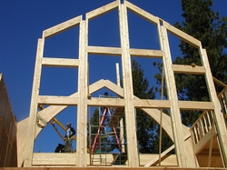 Front Glass wall Framing and arched beams