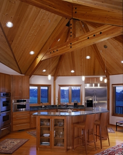 Pan Abode Cedar Homes Post and Beam Kitchen