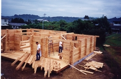 Classic Timber Building under construction