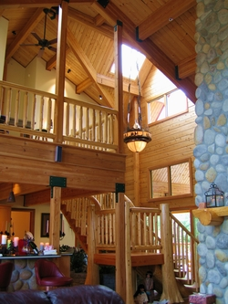Pan Abode Cedar Homes D Log Home Interior