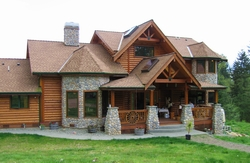 Pan Abode Cedar Homes D Log Home