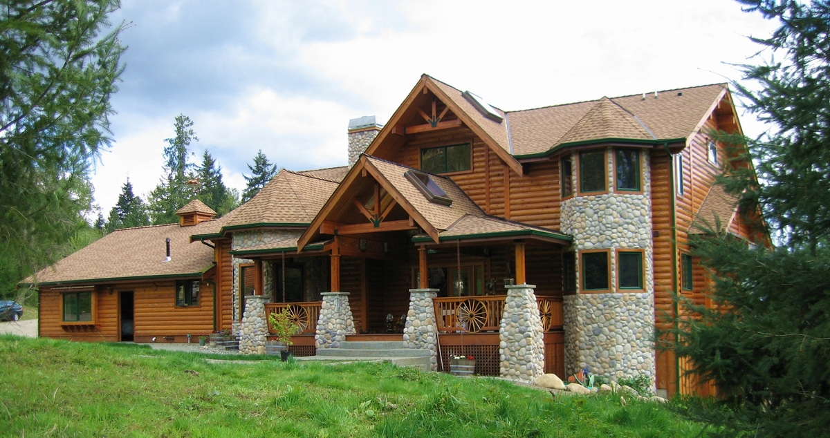 Pan abode cedar homes for Unique log homes