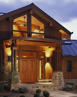 Pan Abode Cedar Homes Post and Beam Home Entry