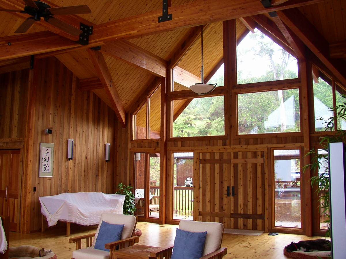 Pan abode cedar homes for Post and beam construction