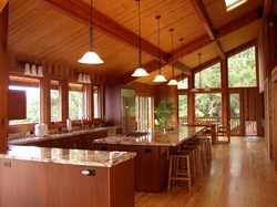 Post and Beam Home Kitchen