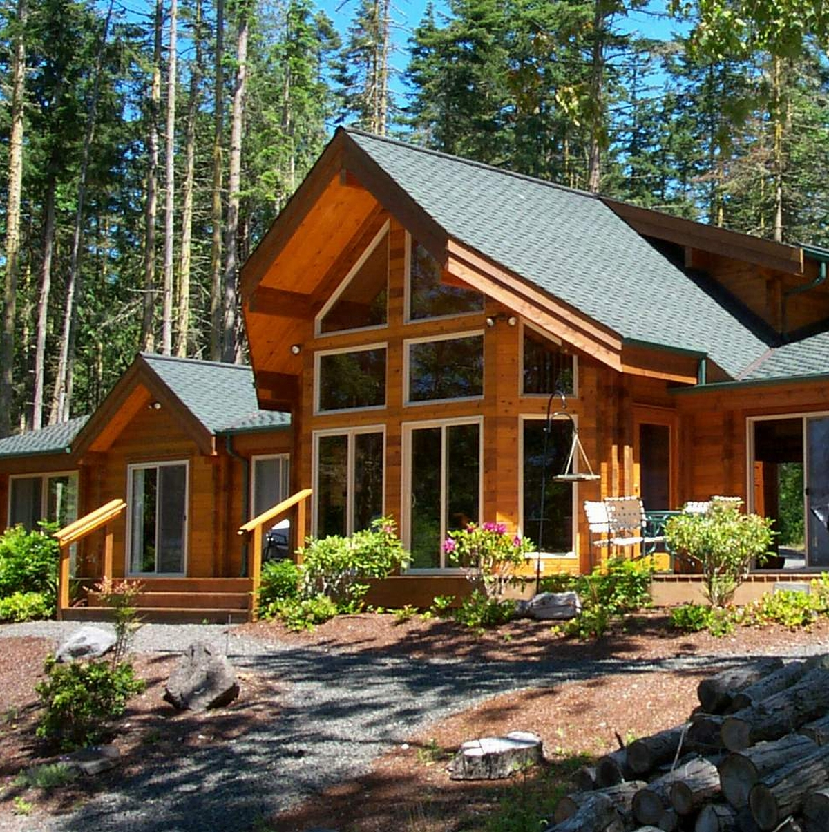 Hardwood Log Cabins ~ Mauna loa cedar homes custom log cabin timber