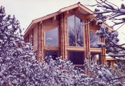 Classic Timber Home winter