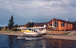 Cedar Home in Alaska at remote location with Sea Plane