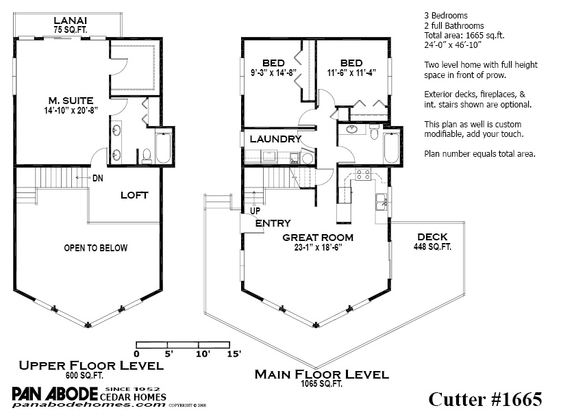 Pan abode cedar homes for Prow front house plans