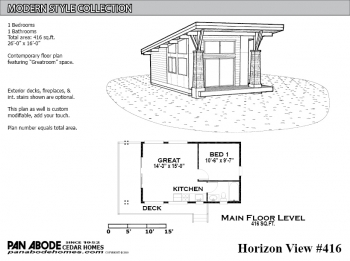 Horizon View #416 Plan