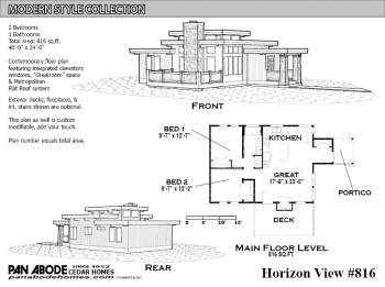 Horizon View #816 Plan